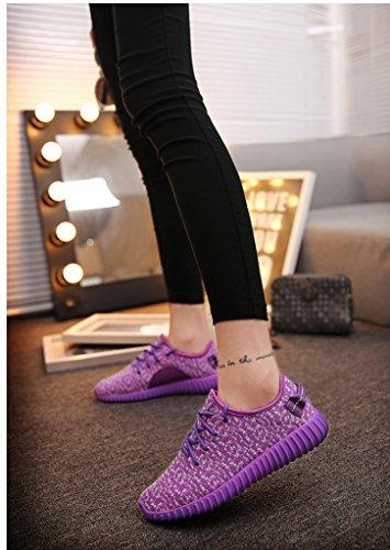 Peggie House,Chaussures de Course Pour Femme Sports Fitness Gym athlétique Baskets Size 35-40 Violet