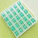 Yicbor verde rocchetti per Husqvarna Viking # 4131825–45bobine 4123078-g (verde (25/Box))