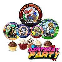 Crafting Mania LLC. 12 Birthday Inspired Party Picks, Cupcake Picks, Cupcake Toppers #1