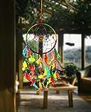 #8: ILU Dream Catcher Wall Hanging Handmade Beaded Circular Net Decoration Item Multicolor Size 16 CM Diameter