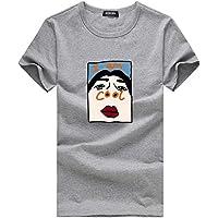 Tosonse Camiseta para Mujer Tops Blusa Tanques Regalo Camisas Transpirables Camiseta De Cuello Redondo Túnica De Manga Corta Estampado