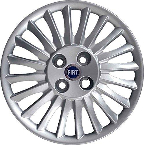 """Lot de 4 enjoliveurs roue 15"""" Grande Punto à partir de 2005, produit non original"""