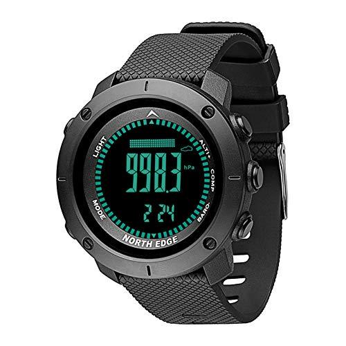 HOYHPK Fitness Smart Armband Digitaluhr Männer Schwimmen Armee Militäruhren Kompass Smart Watch Höhenmesser Barometer Wasserdichte 50 Mt