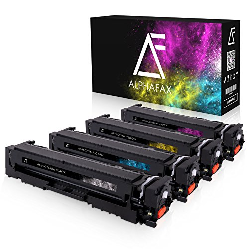 4 Alphafax Toner kompatibel zu HP CF540A-CF543A für Color Laserjet Pro M-280nw M-281fdn M-281fdw M-254nw M-254dw - 203A