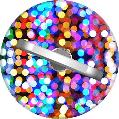 RAHJK Telefon Handy Ring Kleine Lichter, 360 Grad drehbar Finger Ring Griff Handy Halter kompatibel mit Smartphones und Tablets 1U57 - Lichter Finger-ring