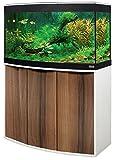 Aquariumkombination Fluval Vicenza 260 mit LED Beleuchtung, Heizer, Filter und Unterschrank Noce Tiepolo