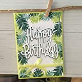 WOZOW Scrapbooking Stanzschablone Süß Prägeschablonen Schablonen Stanzen Stanzformen für Hochzeits Einladung Grußkarte Verpackung Dekoration (E Happy Birthday)
