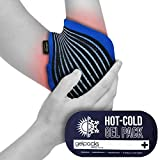 Bolsa de gel para aplicar frío y calor - Con banda de compresión - Para codo de tenista y golfista