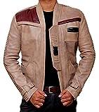 Star Wars Force weckt Finn Jacke Kostüm–John poyega PoE Dameron (Rebsorte) Pilot Jacke Gr. xl, Beige - Beige