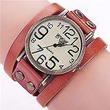 Hot Selling! CCQ Brand Vintage Cow Leather Bracelet Watch Men Women Wristwatch Quartz - B07H76S74D