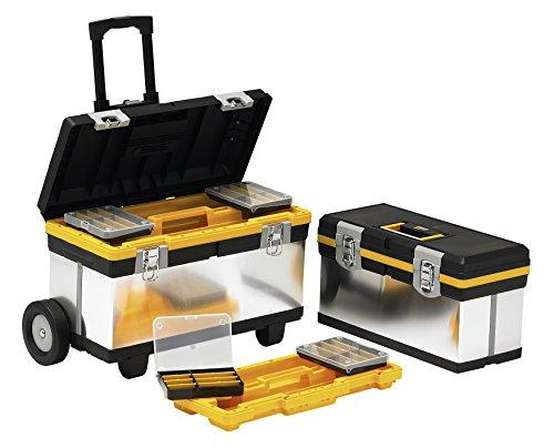 Allit rollbares Werkzeugkoffer-Set, 1 Stück, silber / schwarz, 476430