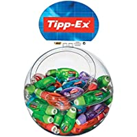Tipp-Ex Korrekturroller Microtape Twist, mit drehbarer Schutzkappe, 8 m x 5 mm, Gehäusefarben 4-fach sortiert, Display à60 Stück