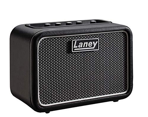 Laney Mini Series Gitarrenverstärker mit Smartphone-Schnittstelle ST Supergroup Stereo Schwarz