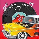 16 Rock'n'Roll Servietten 50er Jahre Papierservietten 33 x 33 cm Rockabilly Einwegservietten Disco Partyservietten