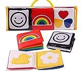 Gperw Kleinkindspielzeug Tierstickerei-Stoff-Buch-Baby-Intelligenz-Entwicklungs-Lernbaby-Spielzeug