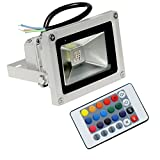 #4: 10w RGB LED Flood light with Remote Control,waterproof,IP65,16 color,4 effect-10 watt (Pack of 1)