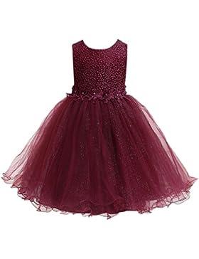 WOLFTEETH Blumen-Mädchen-Kleides zeichneten Trauung Abend Prinzessin Bridesmaid Kinderkleidung 3 Farben