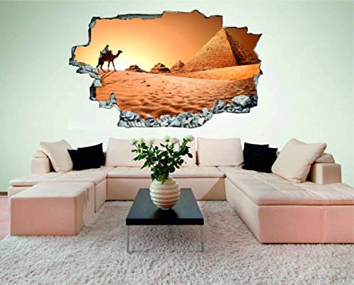 mel Wüste 3D Look Wandtattoo 70 x 115 cm Wanddurchbruch Wandbild Sticker Aufkleber DesFoli © C444 (Wüste Dekor)