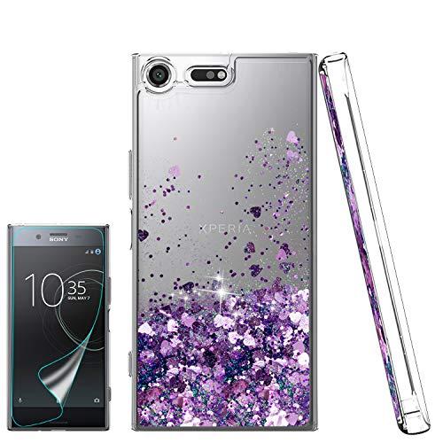 d651a8b651c Atump Funda Sony Xperia XZ Premium Glitter Fundas Líquido Silicona TPU  Antichoque Fundas de teléfono +