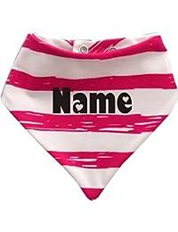 Baby - Kinder Halstuch Sommer Stripes Mit Ihren Wunschtext / in 9 Designs / Größen 0-36 Monate