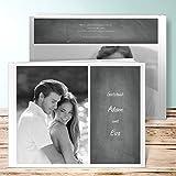 Hochzeitsbücher, Getäfelt 96 Seiten, 48 Blatt, Hardcover 290x222 mm personalisierbar, Grau