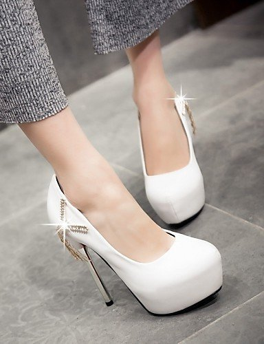 ShangYi Chaussures Femme - Mariage / Bureau & Travail / Soirée & Evénement - Noir / Rouge / Blanc - Talon Aiguille - Talons - Talons - Similicuir Red
