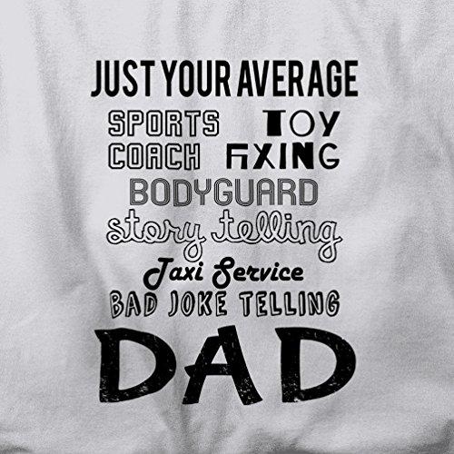 Ihre Just Average Superhero Dad Eigenschaften Vaterschafts Herren T-Shirt Grey