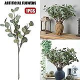 Künstliche Blume Eukalyptus Blätter, künstliche Silber Dollar Eukalyptus Blatt Zweige, perfekt für Garten, Hochzeit Home Dekoration