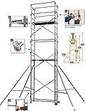 Echafaudage domestique: 6.5m haut. travail max