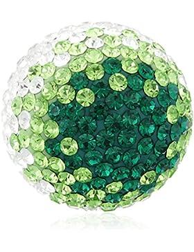 Engelsrufer Damen-Anhänger Klangkugel grün Messing Glas mehrfarbig - ERS-04-ZI-L