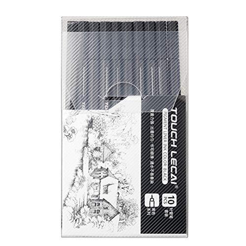 Xinfang Marker-Set, 10 Größen, Schwarz, handbemalt, wasserfest,