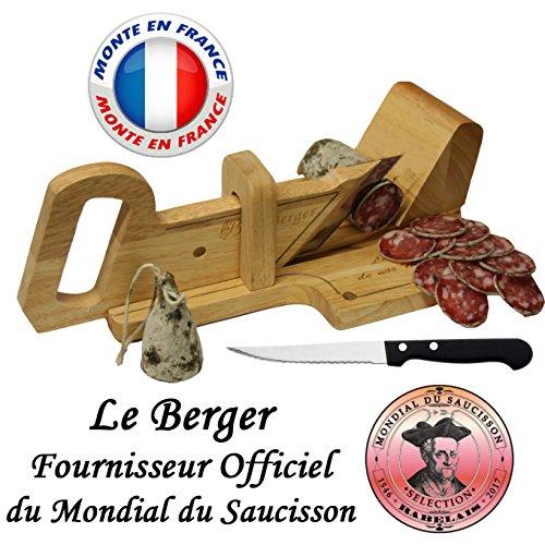 Le Berger LaMontagnarde, Wurstschneider-Guillotine, inkl. Brotmesser.