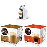 DeLonghi EDG 100W Nescafé Dolce Gusto Piccolo Kaffeekapselmaschine + Nescafé Dolce Gusto Cafe au Lait, 3er Pack + Lungo, 3er Pack
