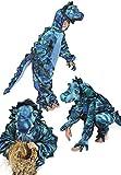 Panelize Blauer Drache Dino Dinosaurierkostüm Triceratops Feuerdrache 98-152 (98/104)