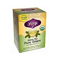 YOGI TEA,OG2,GRN,PURE GREEN, 16 BAG