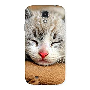 Stylish Premium Cute Sleepings Cat Multicolor Back Case Cover for Samsung Galaxy S4