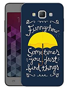 """Humor Gang Funny How You Just Find Things - How I Met Your Mother Quote Printed Designer Mobile Back Cover For """"Samsung Galaxy A7"""" (3D, Matte Finish, Premium Quality, Protective Snap On Slim Hard Phone Case, Multi Color)"""