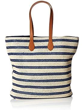 PIECES Damen Pclibine Straw Bag Henkeltasche, 12 x 41 x 38 cm