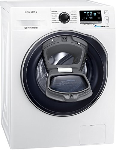 Samsung WW80K6404QW/EG Waschmaschine FL/A+++/116 kWh/Jahr/1400 UpM/8 kg/Add Wash/WiFi Smart Control/Super Speed Wash/Digital Inverter Motor/weiß