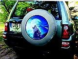 Aufkleber Wolf Indianer 60 cm Auto Reserverad Abdeckung Bezug Spezialfolien