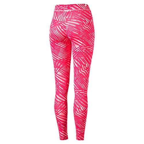Puma Ess Legging pour W M Rouge - Rose Red/Peach/Pink Dogw/Aop