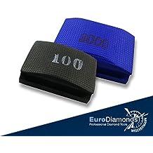 El Original de diamante handschleifpad bajo–Esponja de lija, Juego de 2piezas, grano 100, 3000, para mármol, vidrio, piedra artificial, granito, piedra natural, cerámica