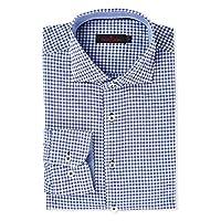 Pierre Cardin Semi Formal Shirt for Men - Blue & White