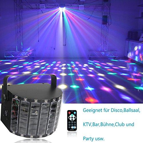 DJ Licht Disco DMX Lichteffekt,Benma LED PAR Licht DJ Projektor Stroboskop Blitzer Lampe Partylicht Discokugel Effekt Musikgesteuert Bühnenbeleuchtung mit Fernbedienung für Weihnachten Kinder Party