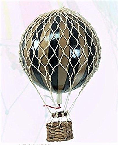 Authentic Models Urlaub Heißluftballon Dekoration, Goldfarben und Schwarz