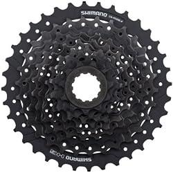 SHIMANO Altus Cassette de Bicicleta, Unisex Adulto, Gris, 9V