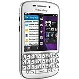 Blackberry Q10 Smartphone SQN-100-1 Sutel Entriegelt ,(7,9 cm (3,1 Zoll) AMOLED, Cortex-A9, Dual-Core, 1,5GHz, 2GB RAM, 16GB, 8 Megapixel Kamera, QWERTY, BlackBerry 10 OS),(Imported) weiß
