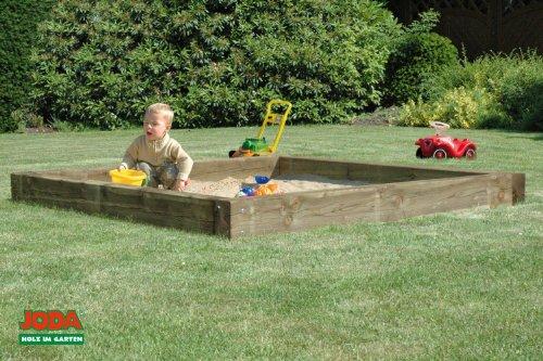 "JODA massive Sandkiste ""Bob"" 212x212cm Sandkasten Sandbox Sand Garten Holz"