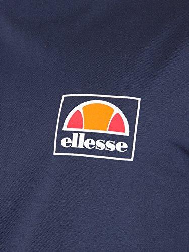 Ellesse Herren Emeroni Kasten-Logo T-Shirt, Blau Blau