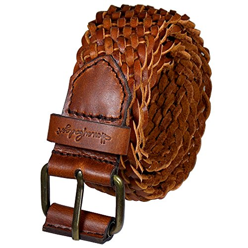 Honeybadger Fashion Men's / Women's Braided Belt Leather Strap for Jeans,Cargo,Shorts (32)